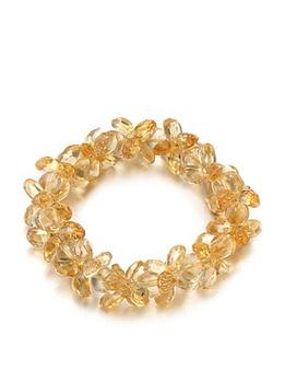 【珂兰钻石】黄水晶幸运花手链/KLQW006379-0001
