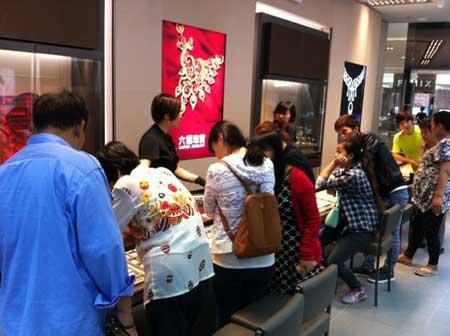 天津第25间六福专柜恒隆广场六福珠宝店盛大开业