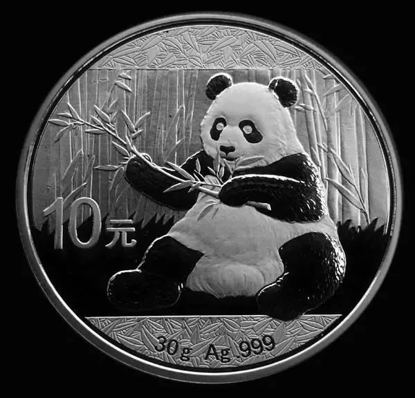 2017版熊猫普制封装银币30克