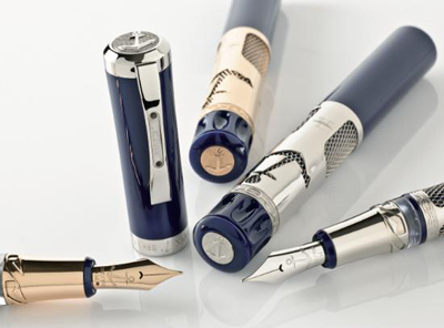 世界顶级钢笔品牌visconti携手雅典表推出奢华笔具