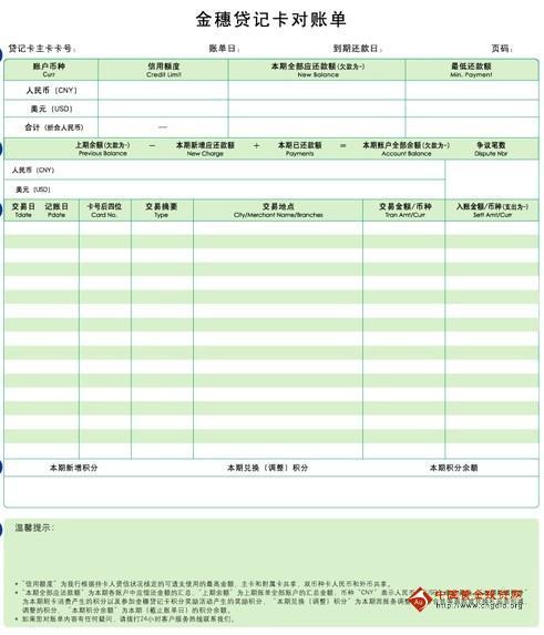 农业银行明细对账单_农行信用卡的账单图解_农行信用卡的交易和费用明细-信用报告 ...