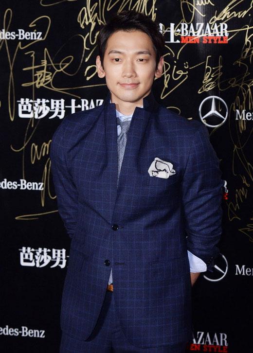 Rain出席2013芭莎男士颁奖盛典 获封全能艺人
