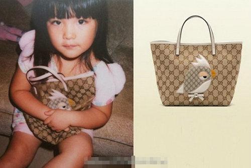 4岁王诗龄拿Gucci包包 中外星二代奢侈品PK