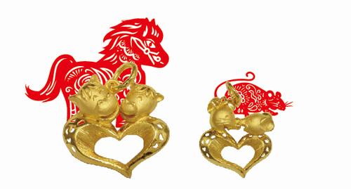 """凯福珠宝推""""爱在心中十二生肖吊坠""""系列迎马年"""