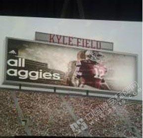 高校足球史上最大记分牌 属于德克萨斯大学