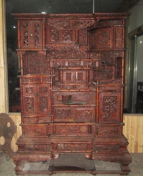 百宝阁老红木家具