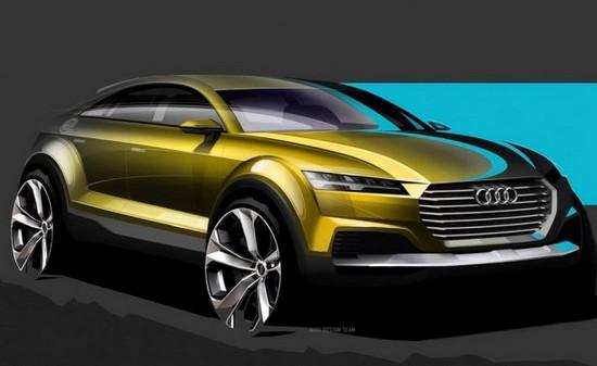 从设计图中看,奥迪q4概念车借鉴了新一代tt的设计思路,该车