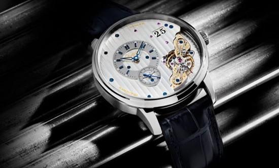 格拉苏蒂原创全新机芯倒置大日历腕表