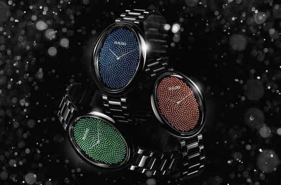 瑞士雷达表全新高级珠宝Touch腕表缤纷色彩款