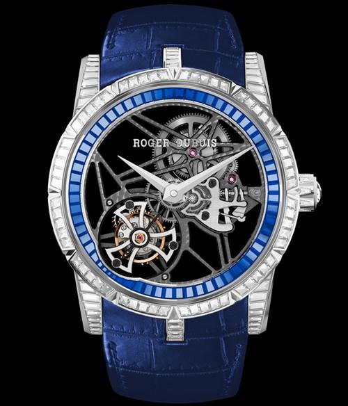 罗杰杜彼全新镂空飞行陀飞轮高级珠宝限量腕表