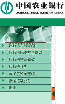 农行查银行卡余额_中国农业银行怎么上网查银行卡余额 - 网银网