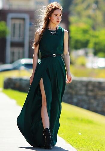 连衣长裙夏天