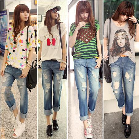 夏季女生衣服搭配:牛仔九分裤怎么搭配好看?