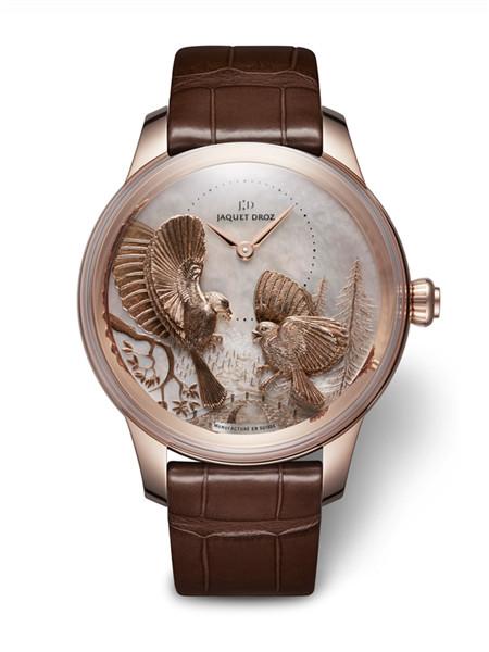 雅克德罗发布金雕雀鸟时分小针盘-四季系列秋季款