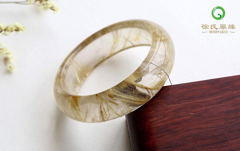 徐氏翠缘天然水晶钛晶发晶手镯图片_珠宝图片