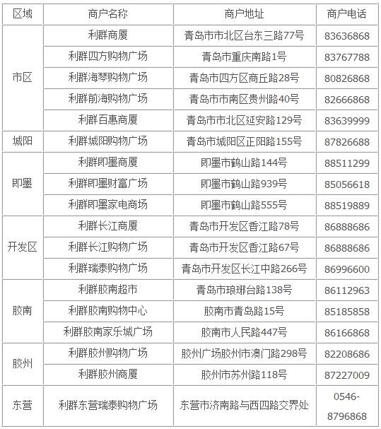 【青岛】利群精品家电 光大信用卡专享特惠