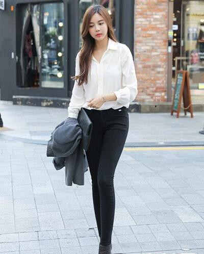 秋季女生服装搭配:长袖衬衫怎么搭配好看?