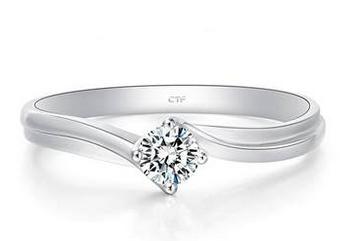 白金钻石戒指