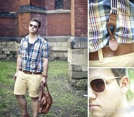 胖男人穿衣搭配图片 胖男的秋冬搭配型录-胖男人穿衣搭配图片
