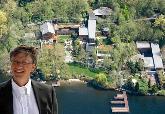 比尔盖茨的豪宅_比尔盖茨的豪宅鱼缸_比尔盖茨豪宅_比尔盖茨的豪宅全景-金投奢侈品