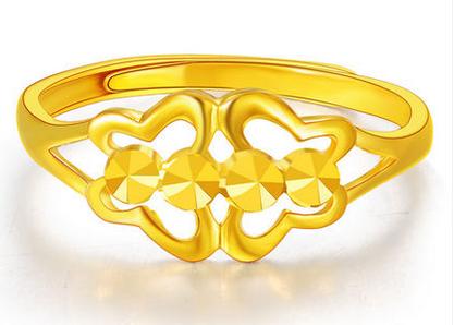 老凤祥黄金戒指图片1:999千足金蝴蝶 比翼双飞黄金戒指