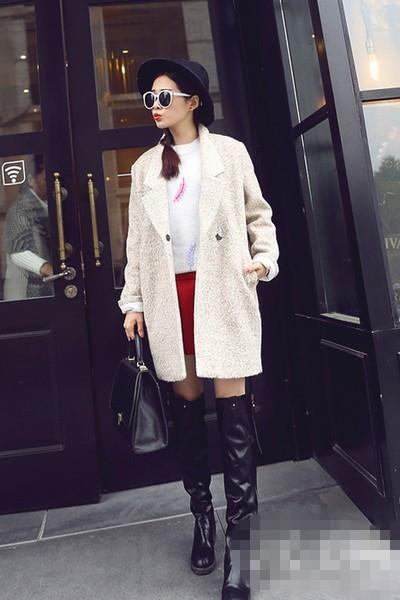 秋冬穿衣搭配技巧示范 长靴显瘦又百搭图片