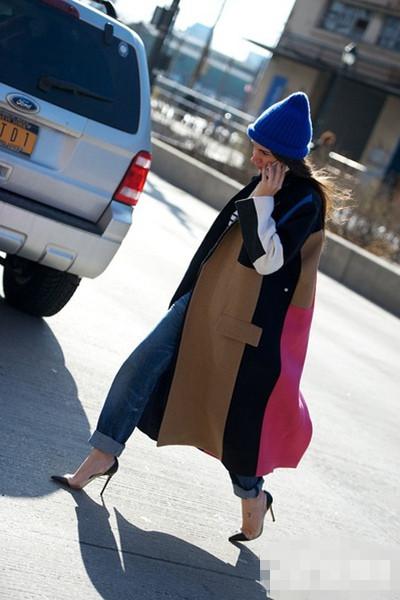 潮人示范<a href='http://www.china1f.com' target='_blank'>服装</a>流行趋势 廓型外套打造寒冬新LOOK