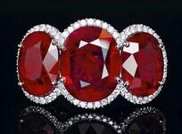新加坡拍卖会卖出一颗罕见的40克拉红宝石