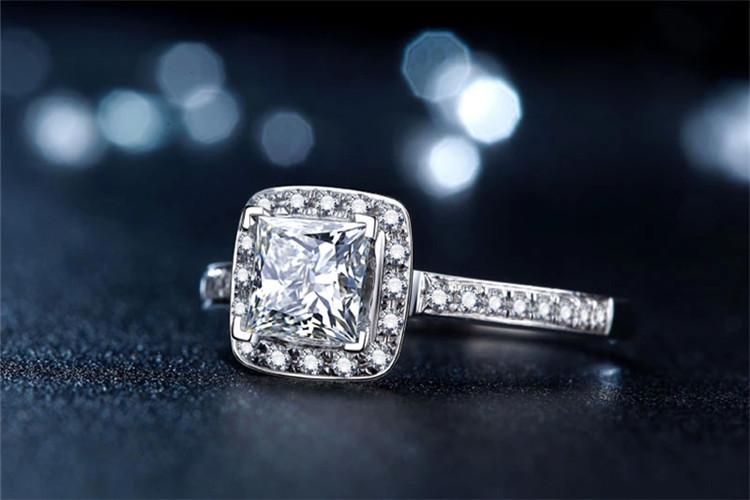 珂兰钻石1.2克拉王妃公主方钻戒图片_珠宝图片