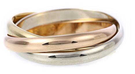 三色金戒指有哪些款式图片