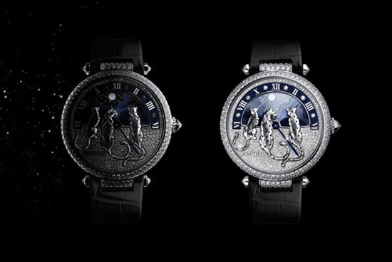 卡地亚推出全新幻梦美洲豹昼夜显示腕表