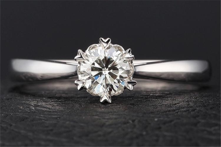 珂兰钻石白18k金30分显钻结婚钻戒_珠宝图片
