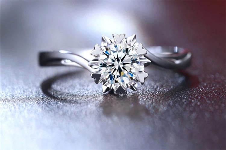 珂兰钻石白18K金20分结婚定制钻戒_珠宝图片