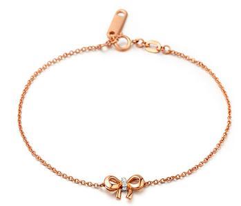 情侣戴什么款式的金手链图片