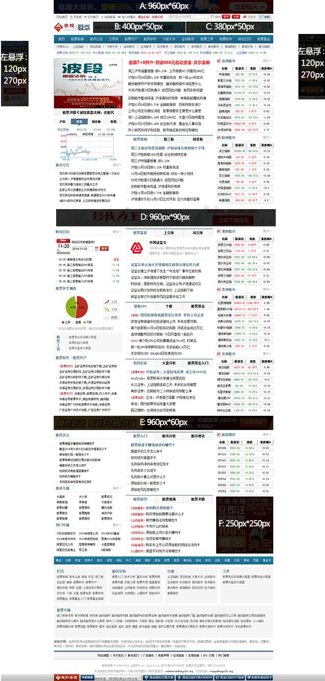 股票频道广告资源