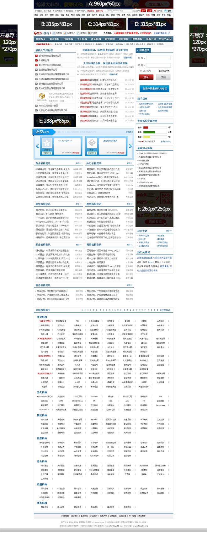 机构频道广告资源
