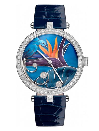 梵克雅宝推出全新天堂鸟珐琅腕表