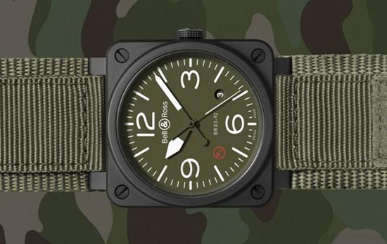 柏莱士名表品牌一处BR 03纯正军用款陶瓷腕表