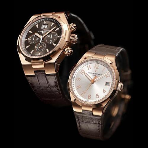 江诗丹顿推出两款Overseas系列粉红金腕表