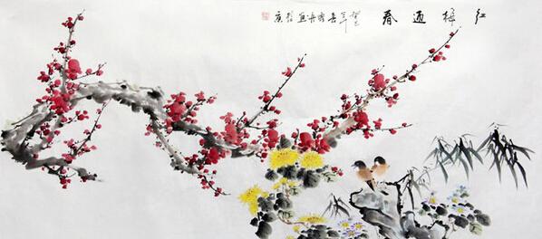 书画收藏与鉴赏 红梅迎春