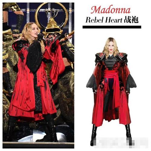 麦当娜世界巡演派头大 大牌设计师都为穿衣搭配造型操心
