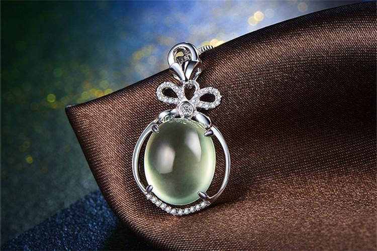 恒久之星珠宝花魅白18K金葡萄石群镶排钻项链_珠宝图片