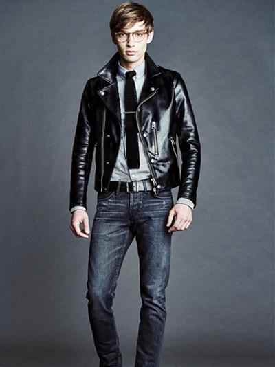 tom ford服装品牌发布2016年秋冬系列全新皮衣款图片