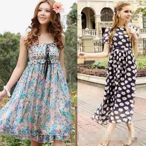早春穿衣搭配技巧示范 碎花连衣裙显瘦又减龄