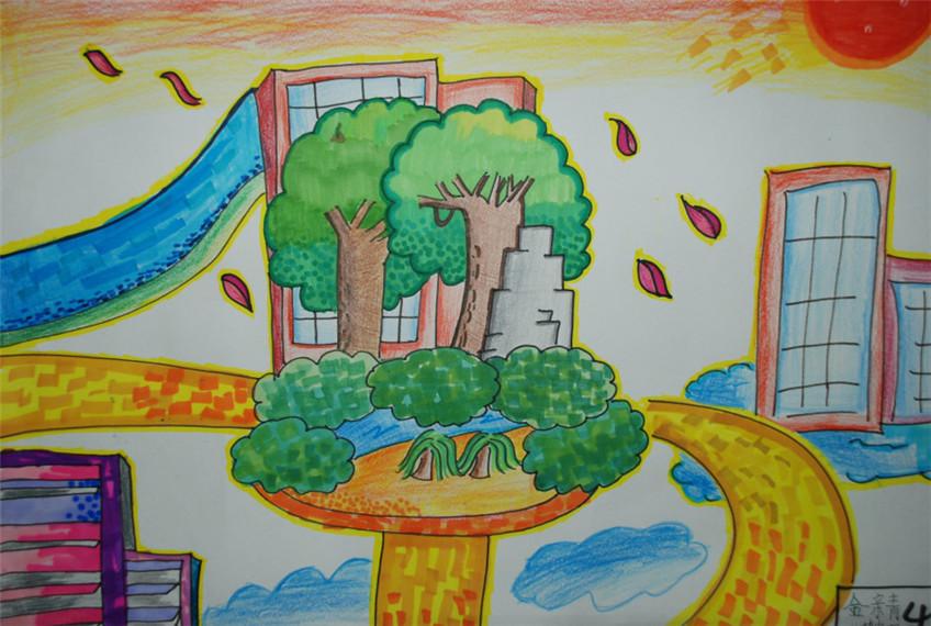 美丽中国美好家园画_我心中的家园绘画作品-美好的家园图片大全|我心中的家园儿童画 ...
