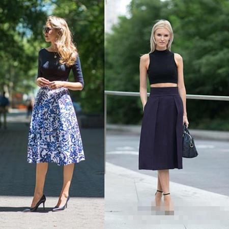 夏季穿衣搭配技巧示范 雪纺半身裙+高跟鞋清纯优雅图片