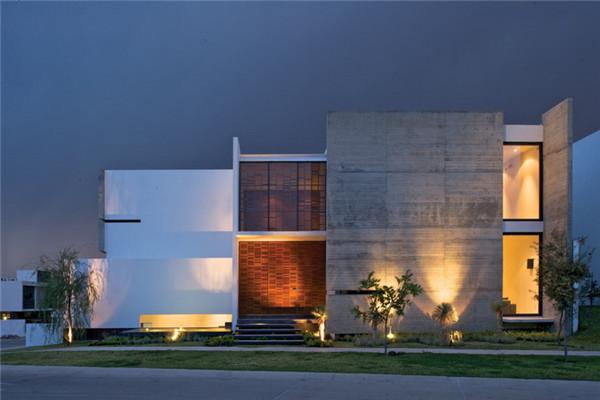 墨西哥X别墅:外表充满纹理和透明度的私人豪宅