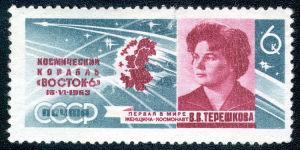 全球首位女宇航员邮票赏析