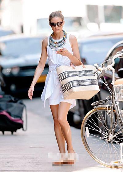 欧美夏季服装流行趋势 不知道戴什么来个草编包吧