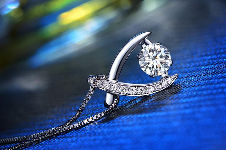钻石小鸟珠宝白18K金Brilliant钻石吊坠_珠宝图片